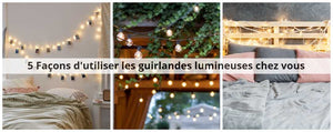 banniere guirlandes lumineuses
