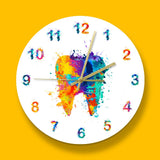 Horloge Dentiste Multicolore