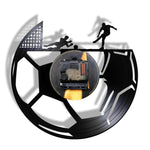 Horloge LED<br>Cages de Football - Horloge Design