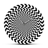 Horloge Murale Originale<br> Illusion d'optique - Horloge Design