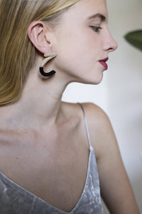 Ani Earrings with Black