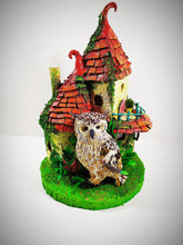 Load image into Gallery viewer, Fairy House. Lighting house. Christmas gift. Kids rooms decoration. Miniature cottage.