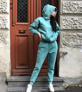 Hoodie Sweatpants Sport Outfits Jogger Set