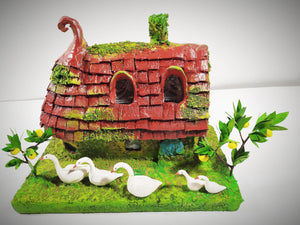 Fairy House. Lighting house. Christmas gift. Kids rooms decoration. Miniature cottage.