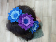 Load image into Gallery viewer, Felt floral headband, flower headband, Floral crown, handmade gift, headbands, gift, floral headband, hair bows for girls,jewelry
