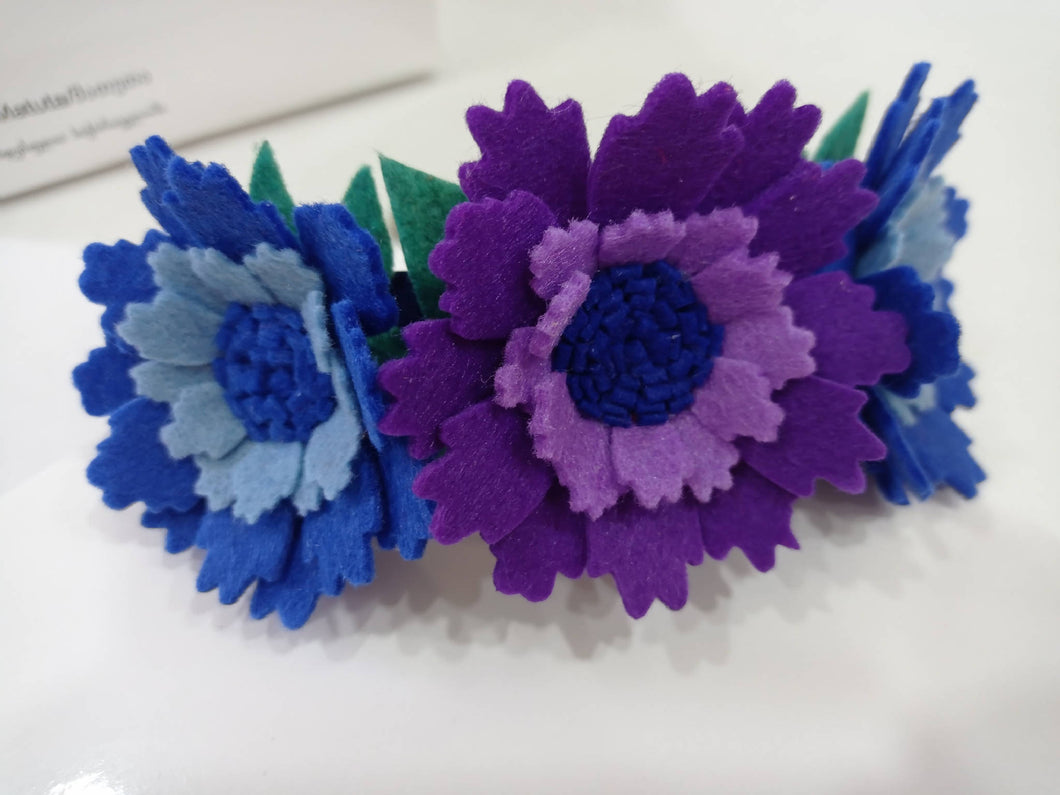 Felt floral headband, flower headband, Floral crown, handmade gift, headbands, gift, floral headband, hair bows for girls,jewelry