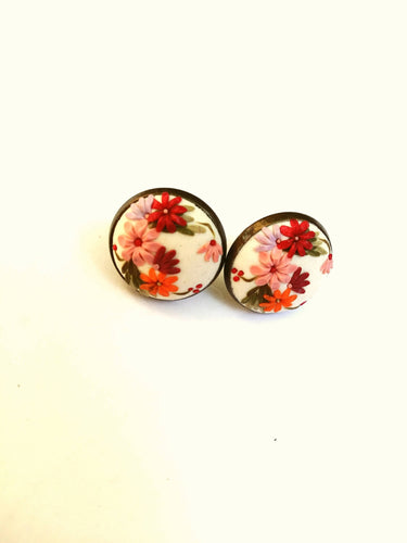 Floral earrings. Colorful Earrings. Flowers earrings. Polymer Clay jewelry. Handmade accessories.