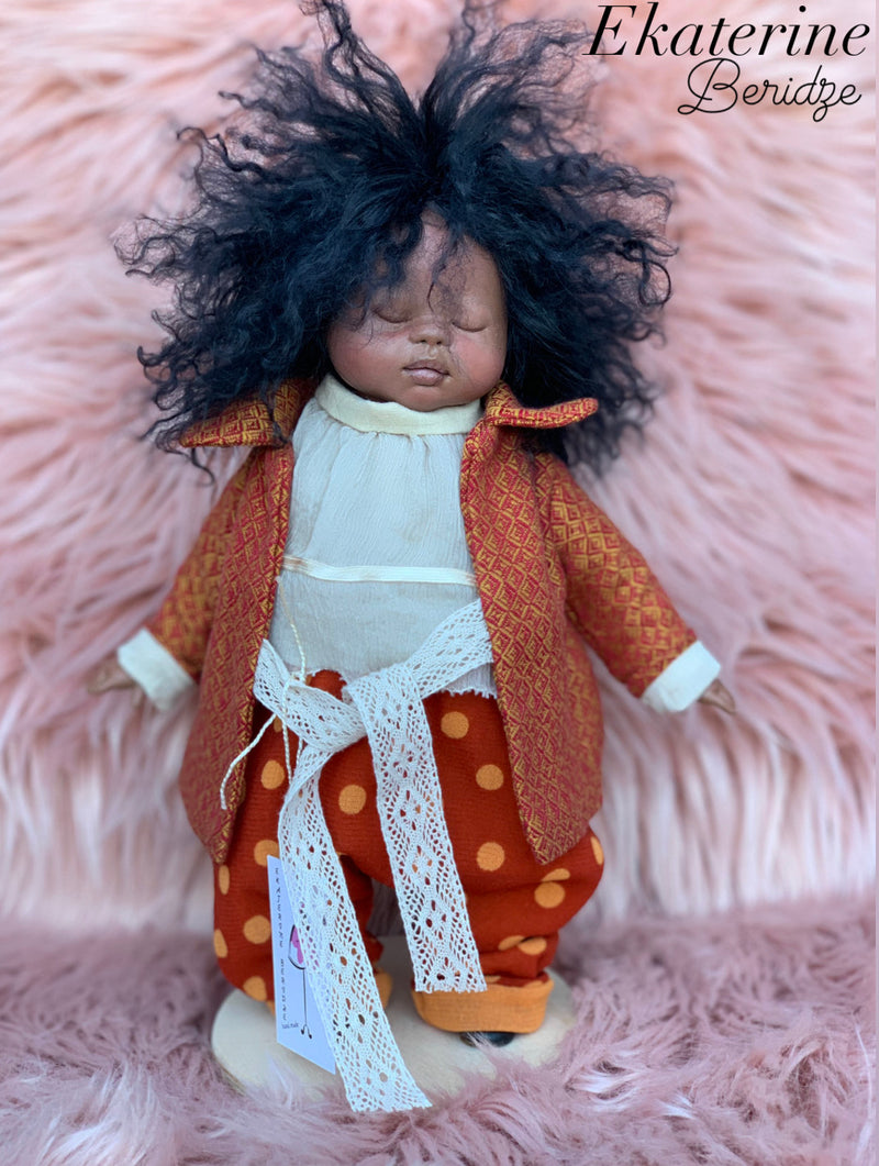 Collectible Handmade Polymer Clay Art Doll