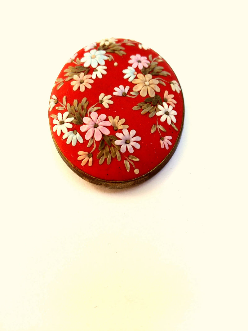 Colorful Brooch. floral brooch. flowers brooch. Polymer Clay jewelry. Handmade accessories.