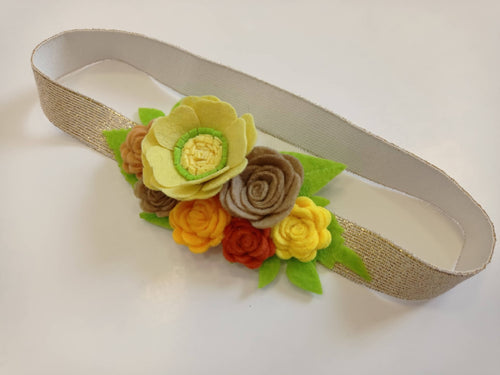 Baby flower headband, Infant headband, gift, hair crown, newborn holiday headband