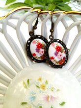 Load image into Gallery viewer, Floral earrings. Colorful Earrings. Flowers earrings. Polymer Clay jewelry. Handmade accessories.