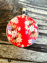 Load image into Gallery viewer, Colorful Necklace. Flowers pendant. Floral necklace. Polymer Clay jewelry. Handmade accessories.