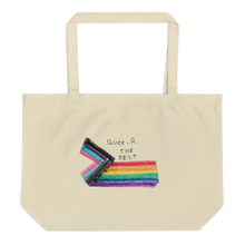 Load image into Gallery viewer, Eco organic tote back Queer The Best