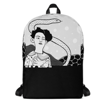 Load image into Gallery viewer, Backpack Girl with a Snake by Masholand