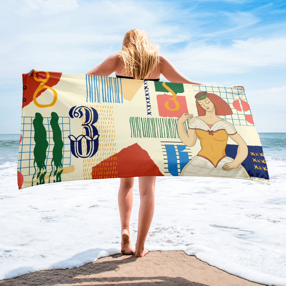 Beach Towel (Woman) by @Musya