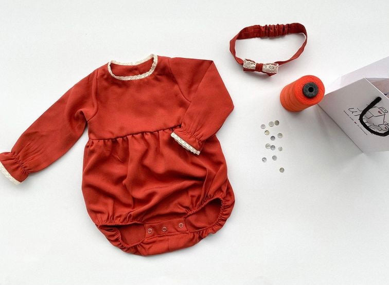 Matching Romper & Headband for Babies and Tots, by Uniki