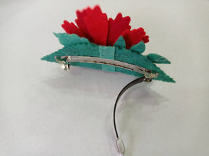 Unique hair barrette, Floral hair accessories, Handmade Hair clip, French barrette