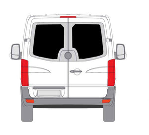 "Insulated Windows for CRL Rear Doors - 170"" WB - Ripplewear"