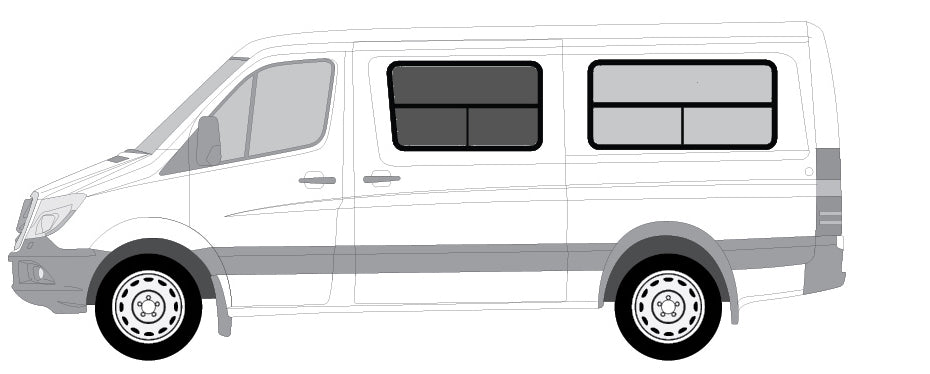 "Insulated Windows for CRL Crew Cab - 144"" WB - Ripplewear"