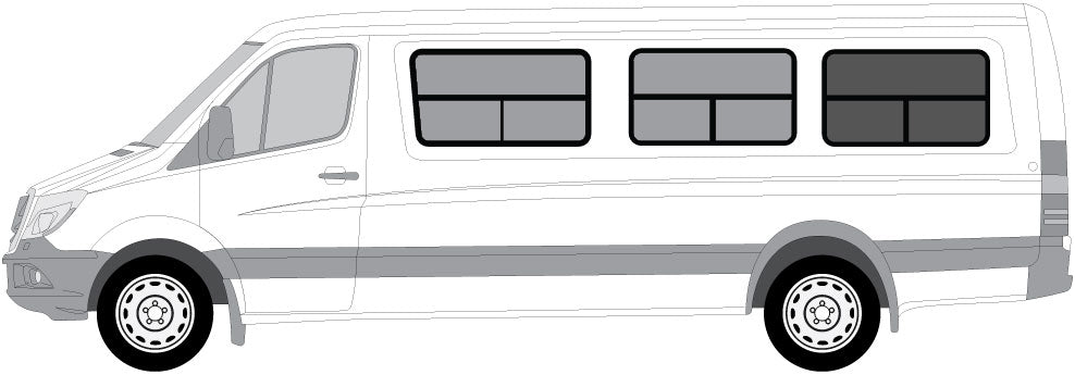 "Insulated Windows for CRL Rear Panel - 170"" WB - Driver Side - Ripplewear"