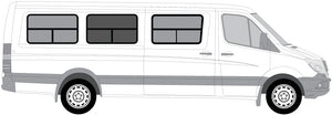 "Insulated Windows for CRL Center Panel - 170"" WB - Passenger Side - Ripplewear"