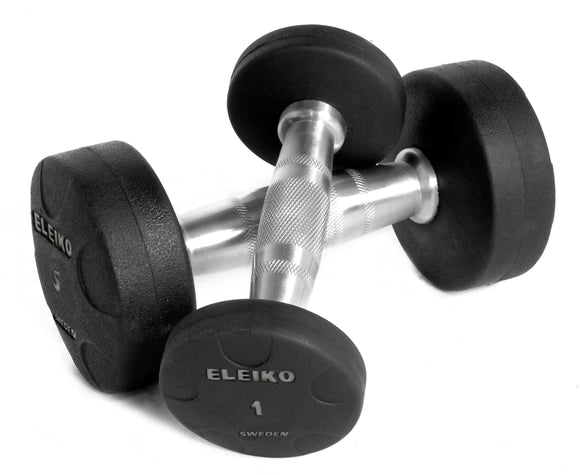 Eleiko Vulcano Solid Rubber Dumbbell Set