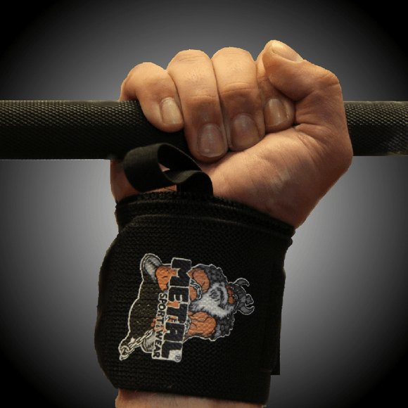 Metal Sport - Black Wrist Wraps