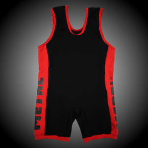 Metal 2 Colour Slim Fit Powerlifting Singlet Leotard