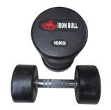 Solid Rubber Dumbbell Set