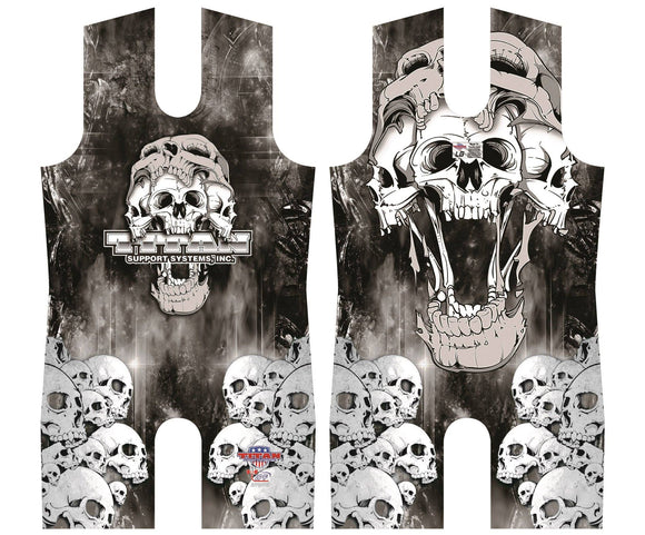 Titan Triumph Skulls Wild Side Sublimated Singlet Leotard