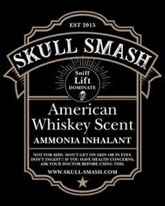 American Whiskey Skull Smash Ammonia Inhalent