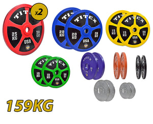 Titex IPF approved 159kg Powerlifting Discs Set
