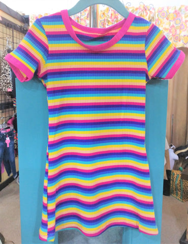 Multi Stripe T-Shirt Dress