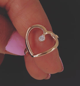 Hey Heart 143 Self Love | Rose Gold with Diamond
