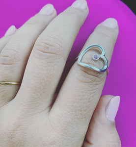 The Original Hey Heart 143 Self Love  Ring