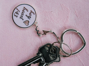 The Original Hey Heart 143 Keychain