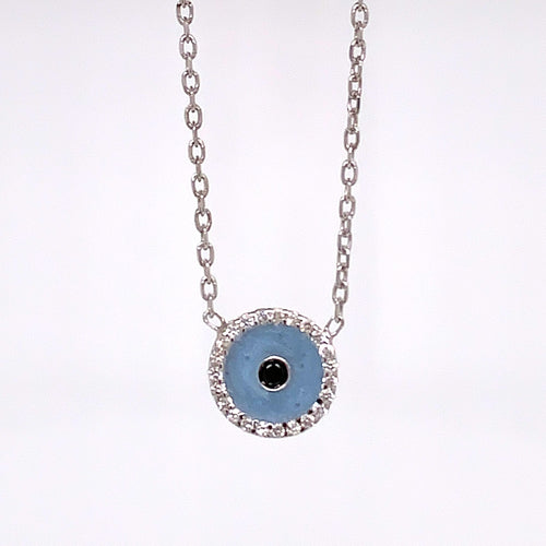 Protective Eye with Blue Enamel
