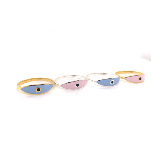 Protective Eye Pink / Blue Silver or Gold