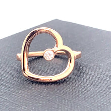 Load image into Gallery viewer, Hey Heart 143 Self Love | Rose Gold with Diamond