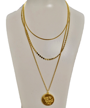 Load image into Gallery viewer, Hey Heart 143 logo layered necklace