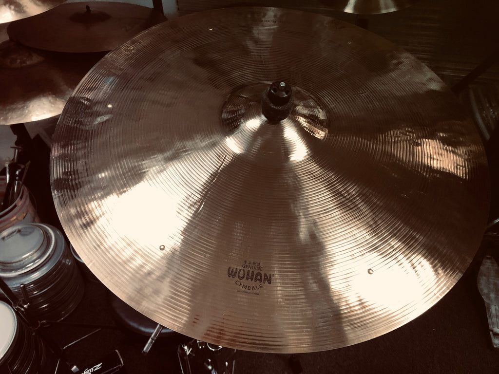 Wuhan Medium Ride Cymbal with rivets.