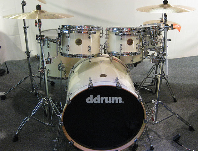 DDRUM Dios 6pc White Drum Set