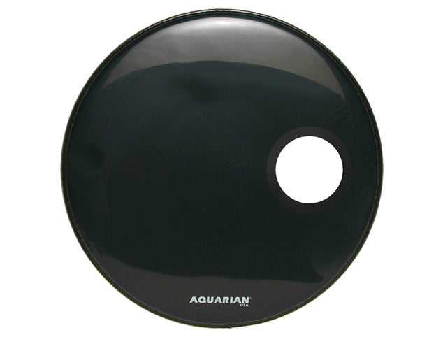 Aquarian Regulator Front Bass Drum Head with Small Off Set Hole