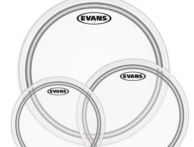 Evans EC2 Clear Drum Head Pack - Standard or Rock