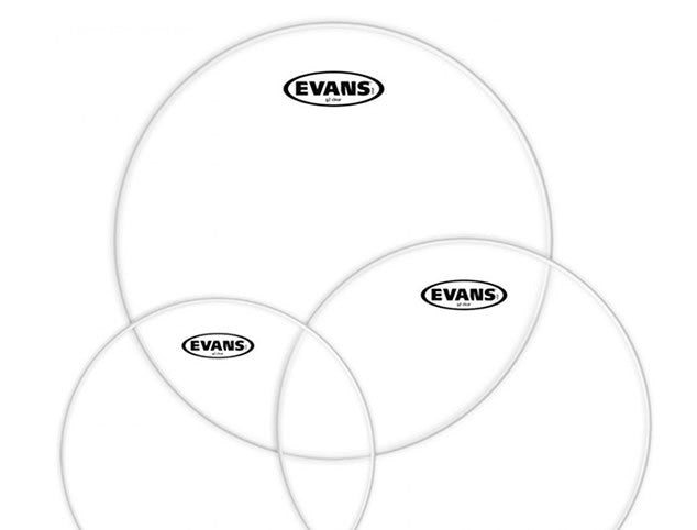 Evans G2 Drum Head Pack  in Clear or Coated. Available in 10,12,14 or 12,13,16