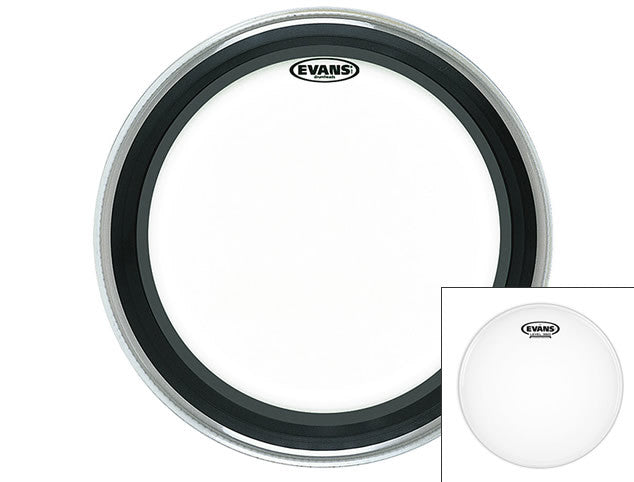 Evans EMAD Bass Drum Head with FREE Snare Head