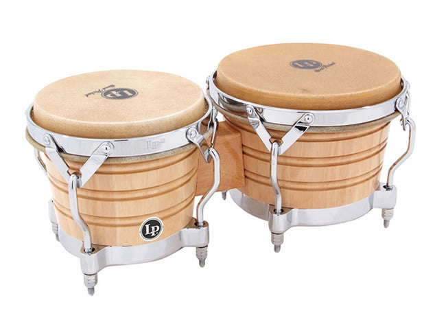 LP Generation II Bongos in Natural Lacquer