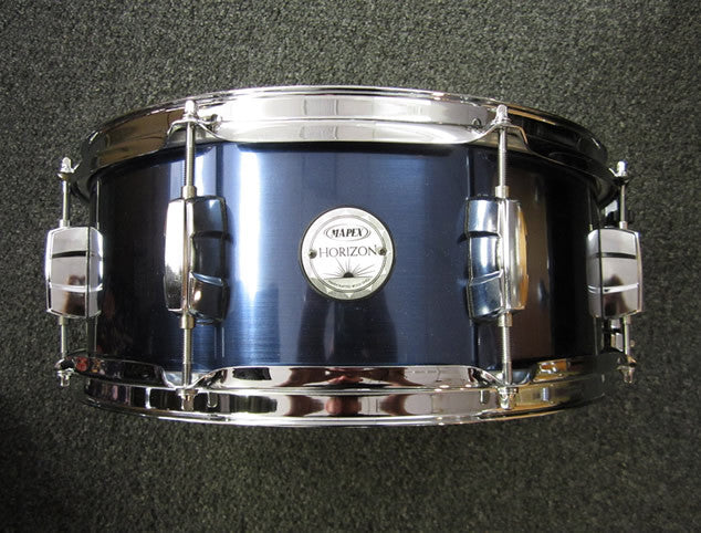 Mapex Horizon 5.5x14 Snare Drum in Indigo Steel Wrap-Basswood Shell