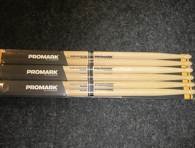 Promark 6-Pair Brick of 5B Oak Wood Tip Sticks