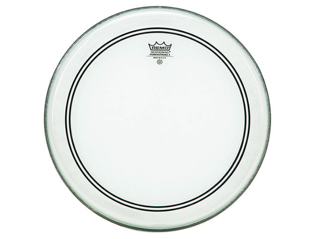 Remo Powerstroke 3 Clear Bass Drum Head - 22